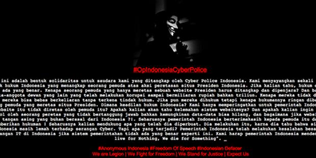 Inilah Bentuk Solidaritas untuk Peretas Situs SBY