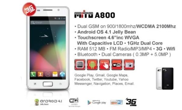 Mito-A800 harga dan spesifkiasi