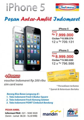 Iphone 5 di indomaret