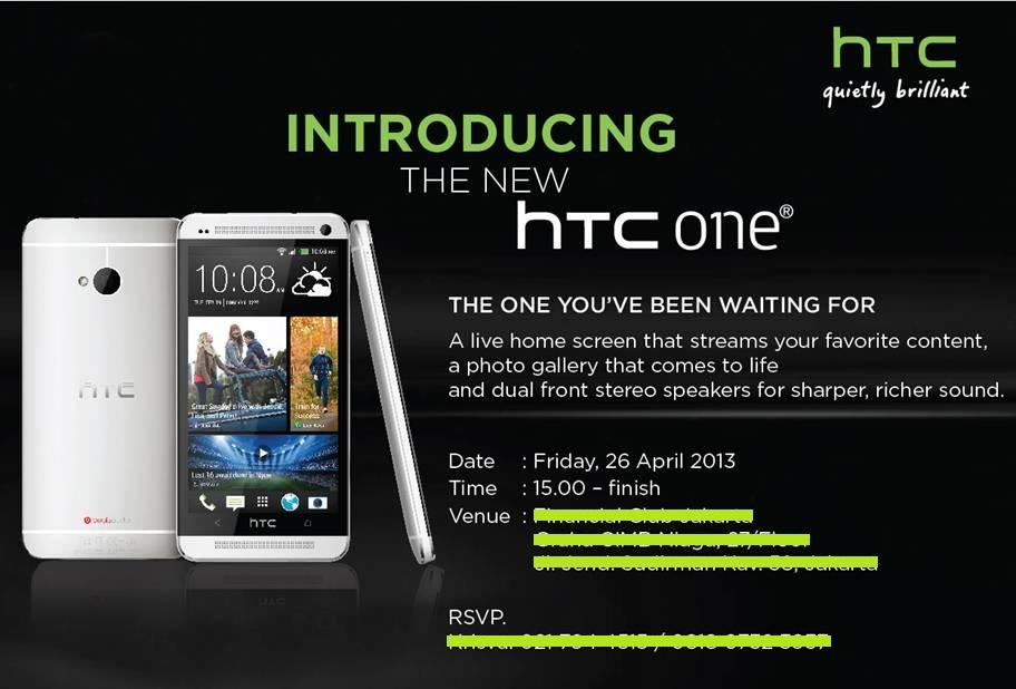 HTC one Hadir di Indonesia Tanggal 26 April