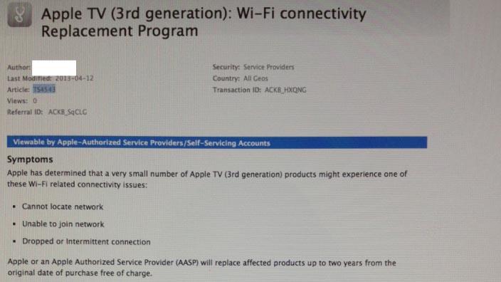 Masalah Wifi pada Apple TV