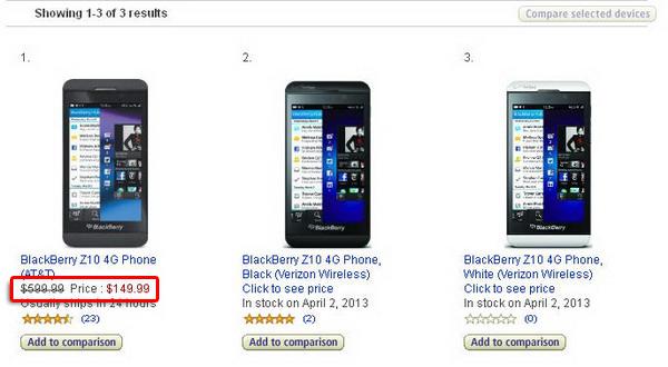 Harga BlackBerry Z10 Rp 1,4 jutaan (Terbatas)