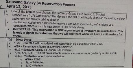 Samsung Galaxy S4 Tersedia 26 April 2013?