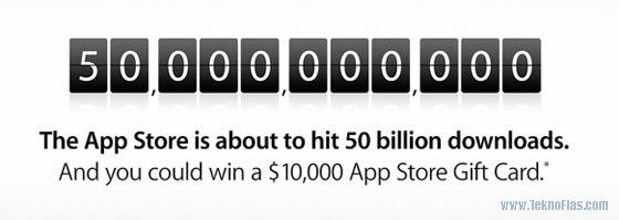 50 miliar app store download