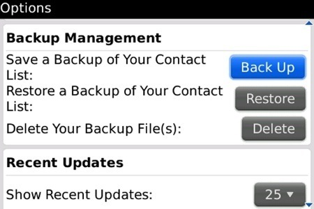 Backup and Restore BB