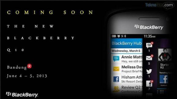 BlackBerry Q10 Diluncurkan di Bandung Pada 4-5 Juni