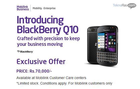 Blackberry Q10 Resmi Rilis di Pakistan