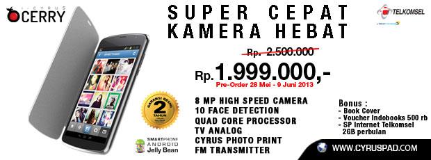 Cyrus Cerry Ponsel Dual Sim Layar 5 Inch