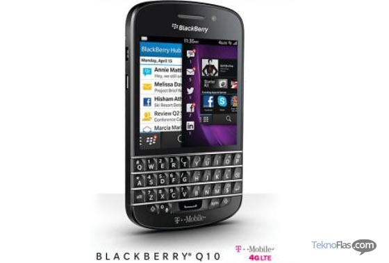 Harga BlackBerry Q10 di T-Mobile USA