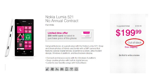Nokia Lumia 521 Habis Terjual