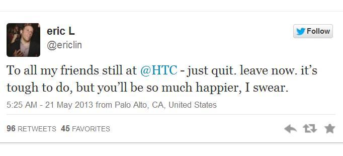 Petinggi HTC mengundurkan diri