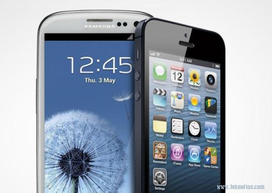 Samsung Galaxy dan iOS