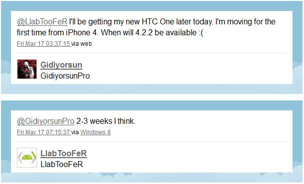 Update Android 4.2 HTC One