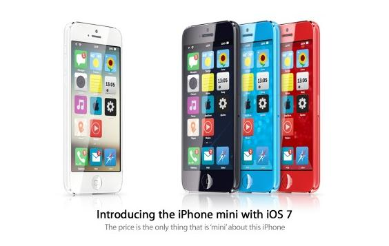 iPhone mini dengan iOS 7