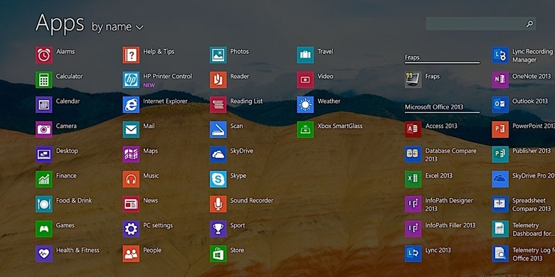 All Apps Windows 8.1