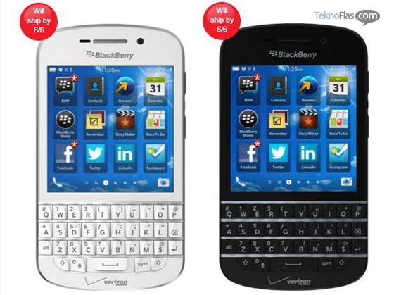 BlackBerry Q10 Sudah Bisa Pre-order di Verizon