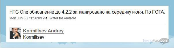 Bulan Ini HTC One Dapat Update Android 4.2.2 Jelly Bean
