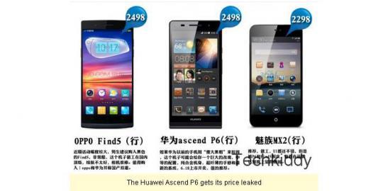 Harga Huawei Ascend P6