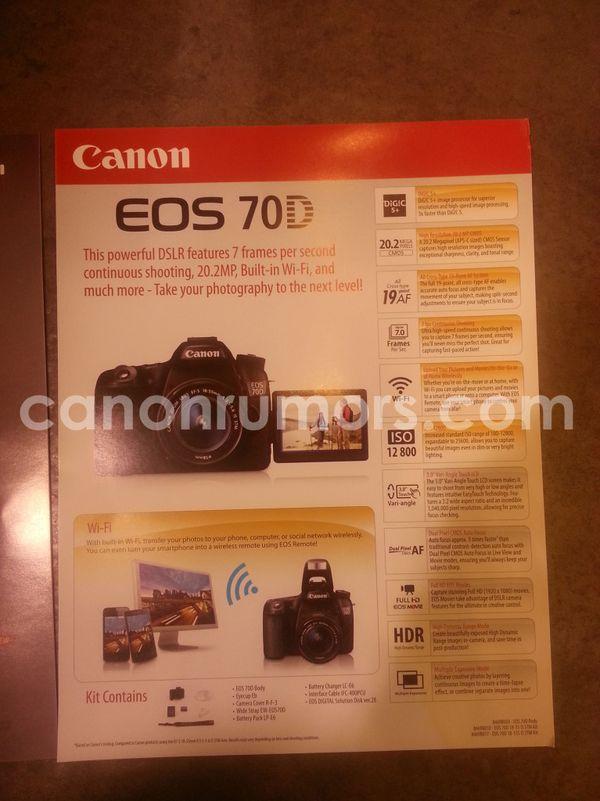 Foto brosur Canon EOS 70D