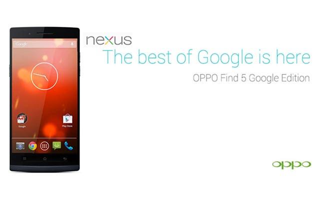 Oppo Find Google Edition