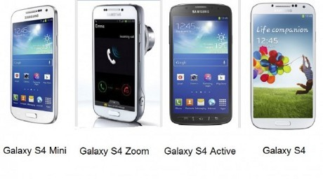 Perbandingan Samsung Galaxy S4 Mini vs Galaxy S4 vs S4 Zoom vs S4 Active