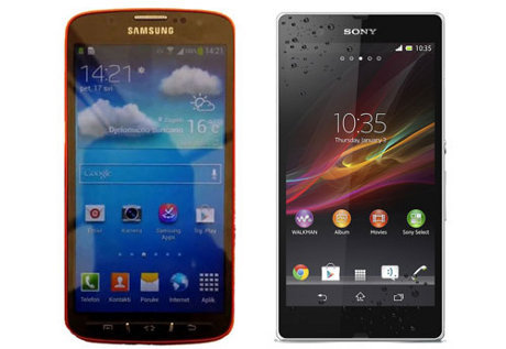 Perbandingan Sony Xperia Z vs Samsung galaxy 4 Active, Hp Anti Air