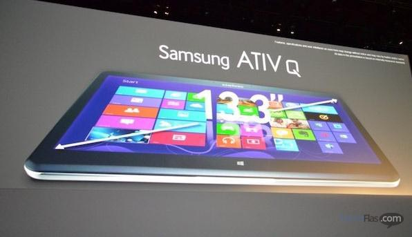 Samsung ATIV Q Tablet Hibryd OS Windows 8 dan Android