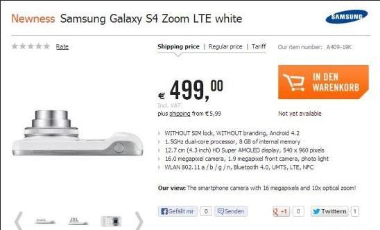 Samsung Galaxy S4 Zoom Sudah Bisa Pre-Order