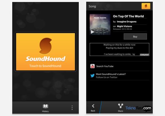 Aplikasi SoundHound Tersedia untuk BlackBerry 10.1