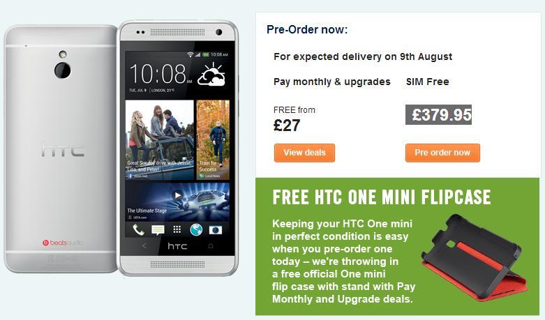 HTC One Mini Mulai Dijual di Inggris 9 Agustus