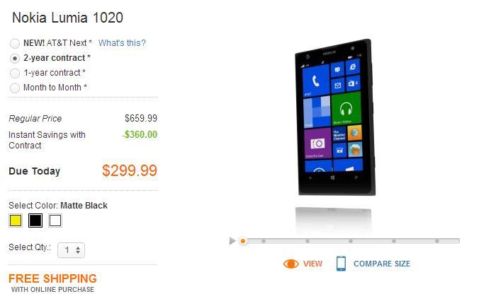 Nokia Lumia 1020 Sudah Bisa Dibeli di AT&T