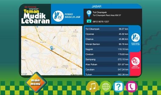 aplikasi peta mudik 2013 toyota