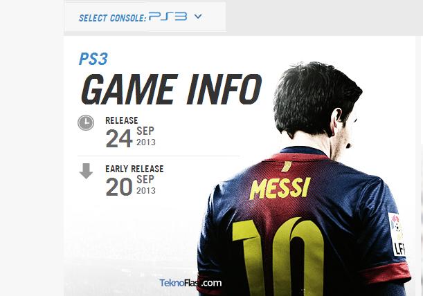 EA Sports akan Merilis Game FIFA 14 pada September 2013