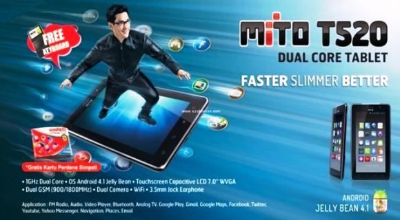 Harga Tablet Andoid Mito T520 Dibanderol Rp 1 Jutaan