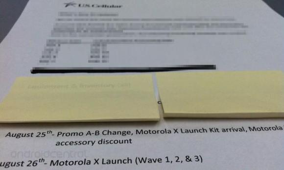 Memo Bocoran Motorola Moto X Akan Diluncurkan 26 Agustus 2013