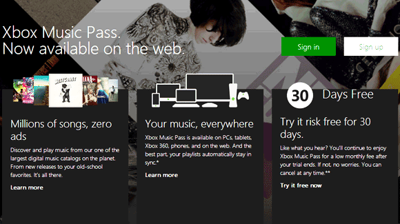 Microsoft Hadirkan Xbox Music Versi Web Online