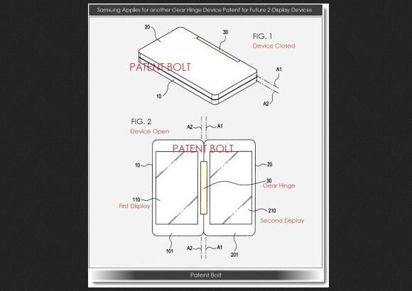 Samsung Ajukan Paten Piranti Gear Hinge Dual Display