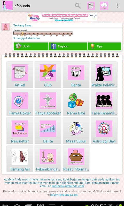 Aplikasi Panduan Ibu Hamil dan Bayi