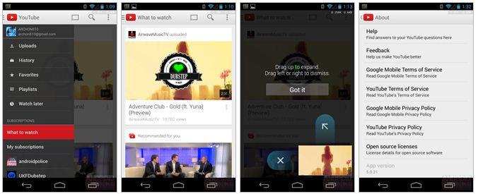 UPdate_Youtube untuk android