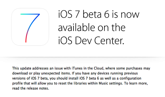 iOS 7 Beta 6 Resmi Dirilis di Apple iOS Developer Center