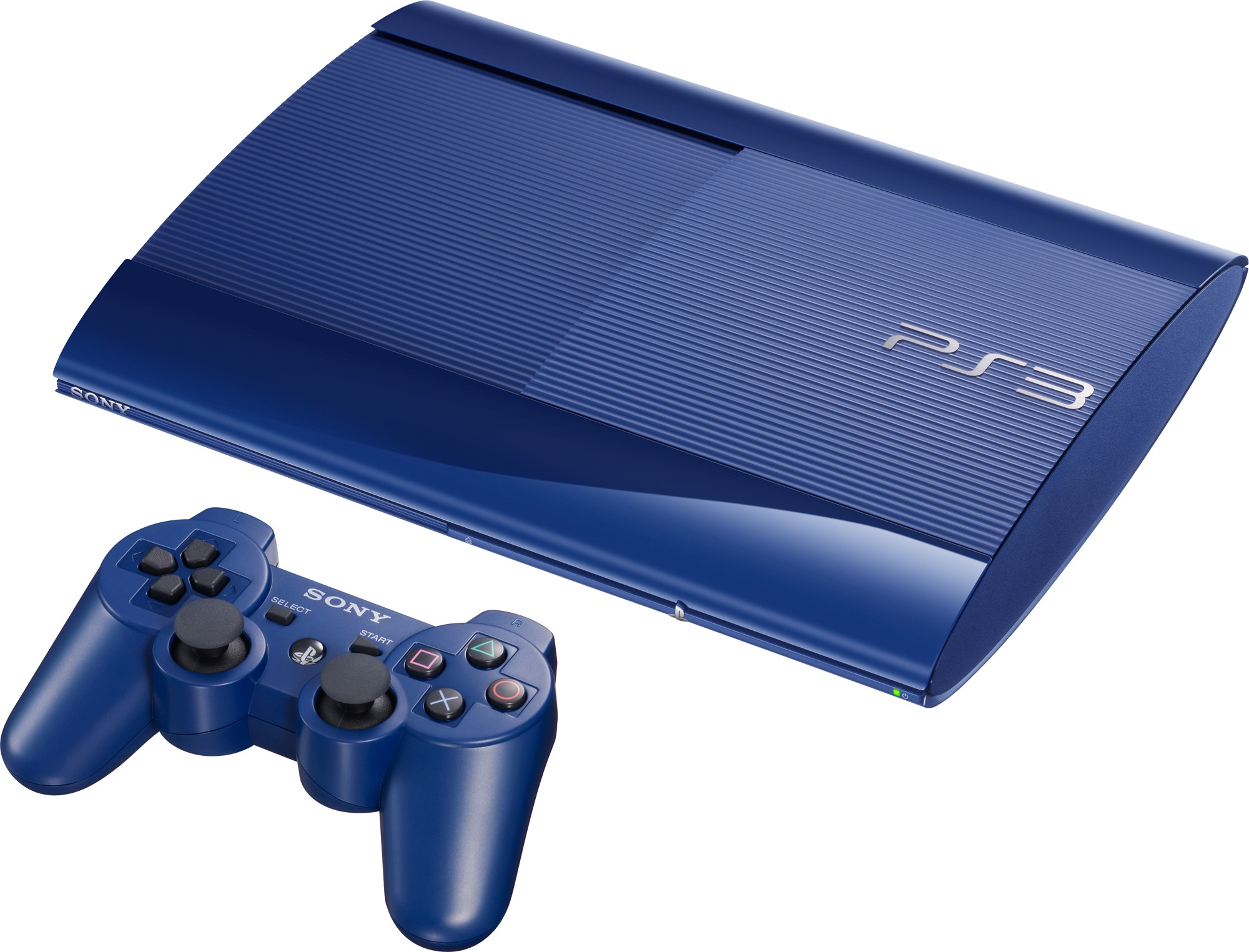 sony-playstation-3 blue