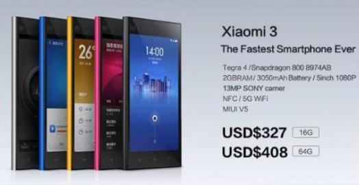 Harga Xiaomi Mi3 Dibanderol 3,6 Juta