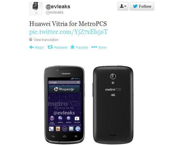 Inikah Penampakan Huawei Vitria
