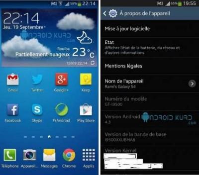 Inikah update OS Android 4.3 untuk Galaxy s4