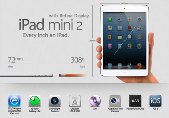 iPad Mini 2 Diprediksi akan Mulai Dipasarkan Akhir Tahun ini