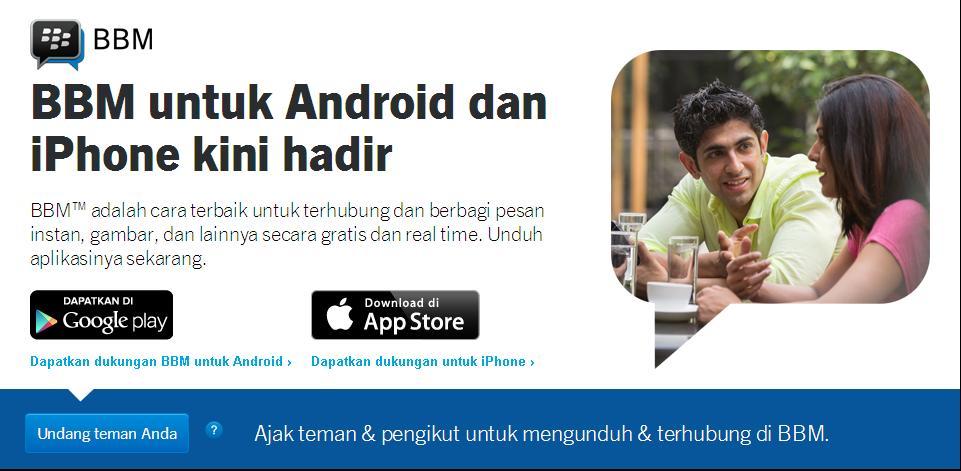 BBM android di galaxy Tab