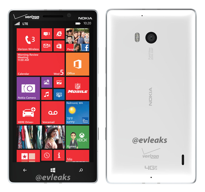 Bocoran Foto Nokia Lumia 929 Warna Putih Terungkap