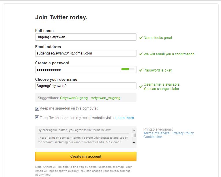 Cara Daftar Twitter3