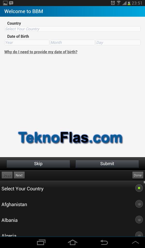 Cara Install BBM Android di Samsung Galaxy Tab Series