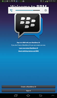 Cara Install dan Download BBM for Android di Tablet